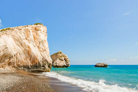 Petra tou Romiou, also known as Aphrodite's Rock, is a sea stack in Paphos, Cyprus.