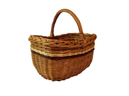 Wicker basket made from vine, natural container for picnic and otzyha