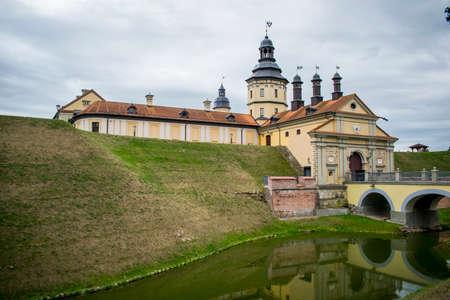 Nesvezh Castle complex architectural monument of Belarus Stock fotó