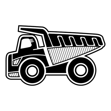 haul: Haul truck. Icon of dump truck highest payload. Isolated vector Illustration