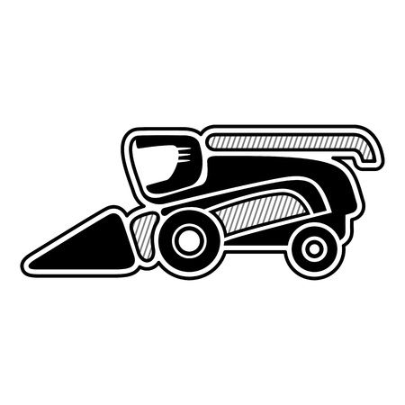 harvester: Harvester. Icon of combine harvester. Isolated vector Illustration