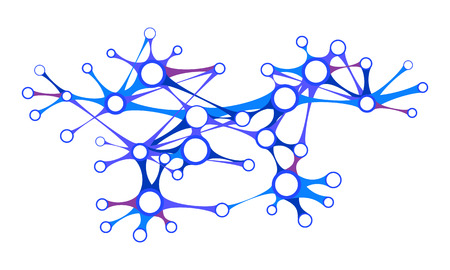 interdependence: Abstract network of interconnected nodes Illustration