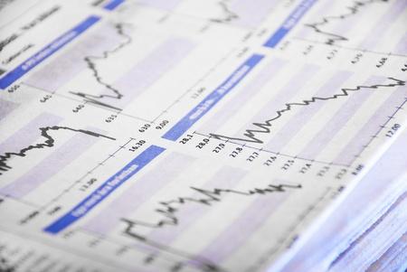 stock market exchange: newspaper