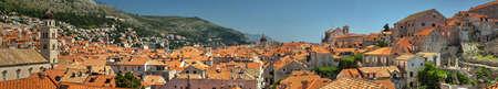 former yugoslavia: Dubrovnik old town panorama
