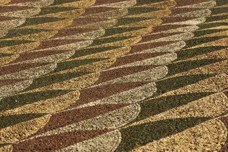 mosaic floor: Colorful antique stone mosaic floor background Stock Photo