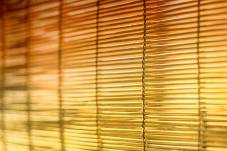 jalousie: Brown and yellow jalousie, curtain texture background