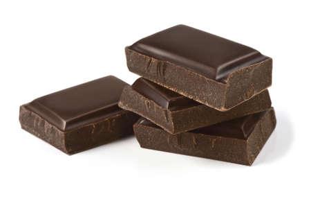 チョコレートの部分白で隔離され、きれいに、補正後の写真のクリッピングパスが含まれています