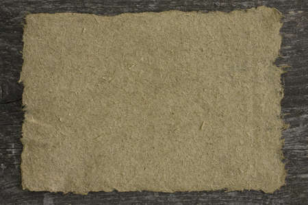 Hand made hemp paper on the table  With space for text  Stock Photo - 18332186