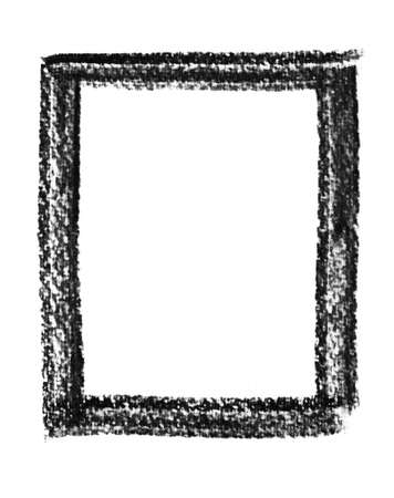 charcoal drawing border on watercolor paper photo