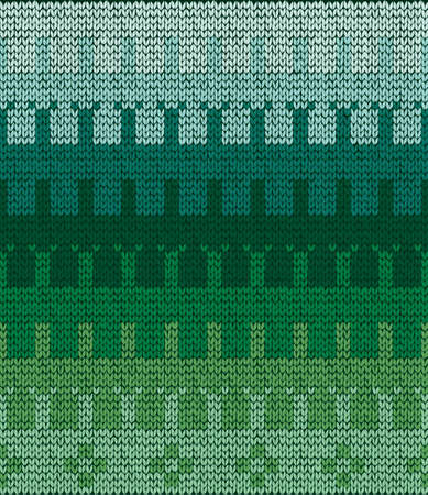 Seamless knit sweater pattern. Vector imitation of the knit sweater. Mittens pattern