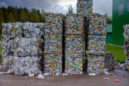 waste recycling plant in Ozolaines parish, Rezekne county, Latvia 07.10.2017.