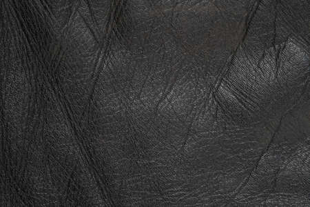 Black leather texture background close up Standard-Bild