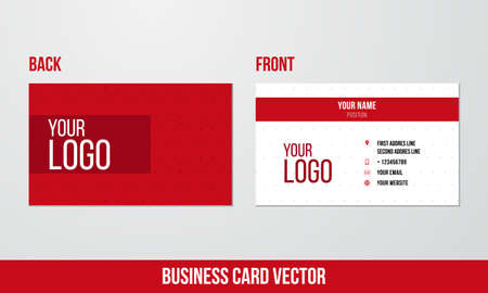 business cards: Simple business card design Illustration