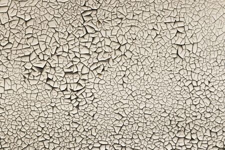 the old white paint was cracked textura Stockfoto