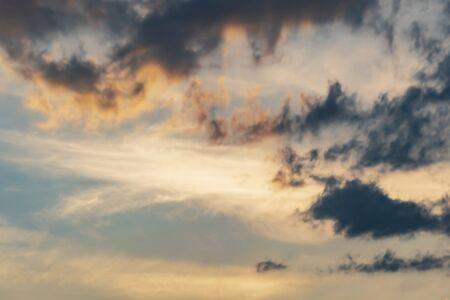 gray Cumulus clouds in a blue sky