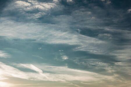 white Cumulus clouds in a blue sky  Stockfoto