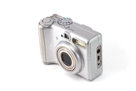 photo camera pocket silver isolated