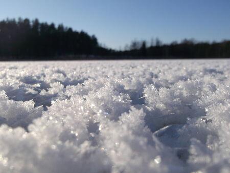 schnee textur: Schneebeschaffenheit mit gefrorenen saubere frische Eiskristallen