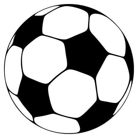 Soccer ball in one color Illustration