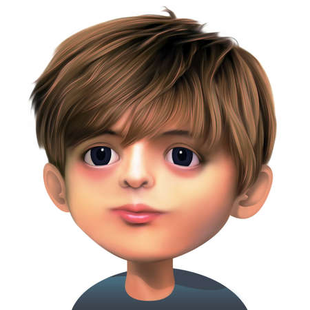 guiltless: Boy with brown hair and dark eyes