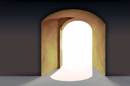 Renaissance Style Architecture, Detail. Arc-shaped Entrance, Arc in the Wall Stock Photo - 11601766