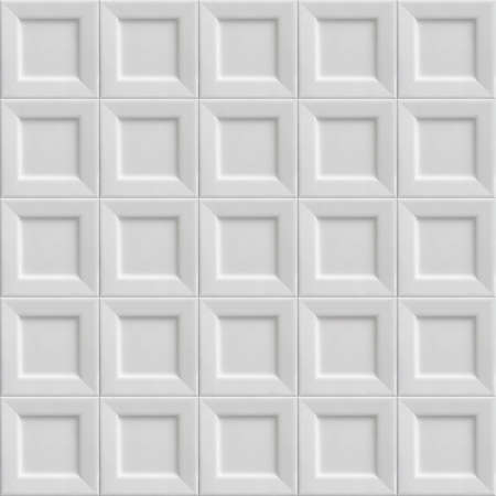 Texture made out of square white plates. Seamless tiled Background