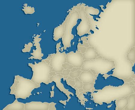 western europe: Europe Map