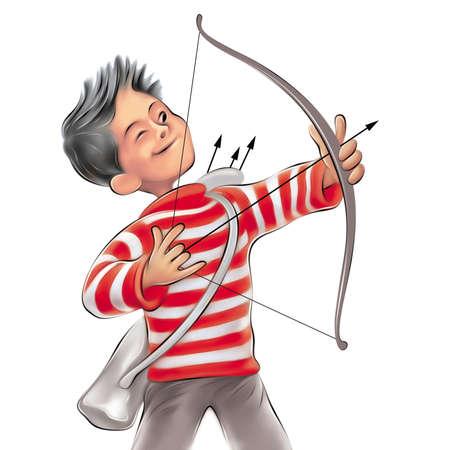 Little playful archer