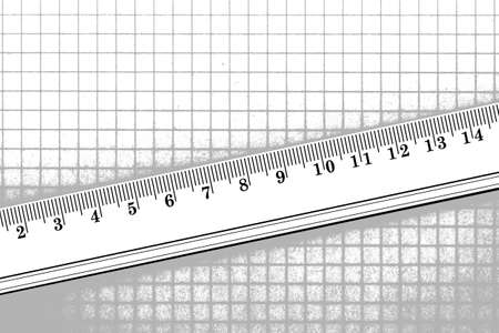 Ruler and checked paper Stock Photo - 11602112