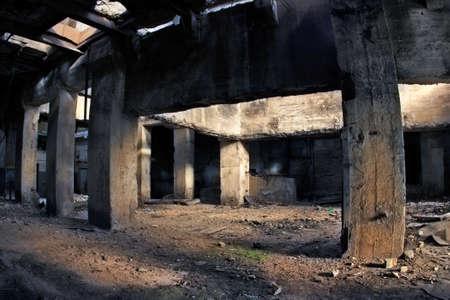 einsturz: Industrie-Ruinen