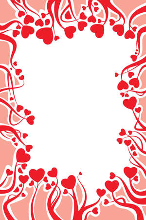 Valentine card decoration created out of hearts Stock Vector - 12486846