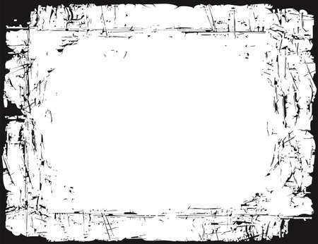 Grungy frame of a worn old paper Stock Vector - 12486876