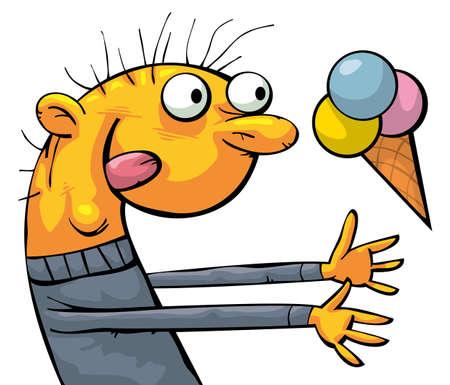 man eater: Funny ice cream eater