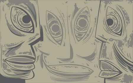melancholic: Melancholic Face looking at each other