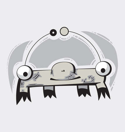 funy: Illustration of a cute funy Monster or Creature