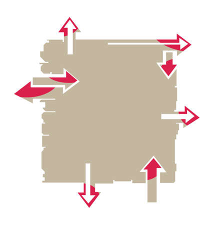 Board with arrows pointing into different directions
