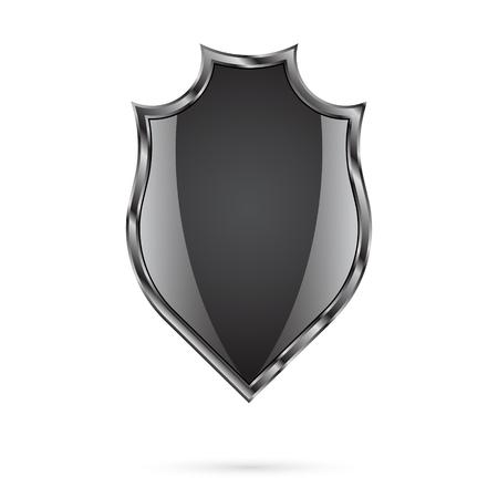 buckler: Shield on a white background Illustration