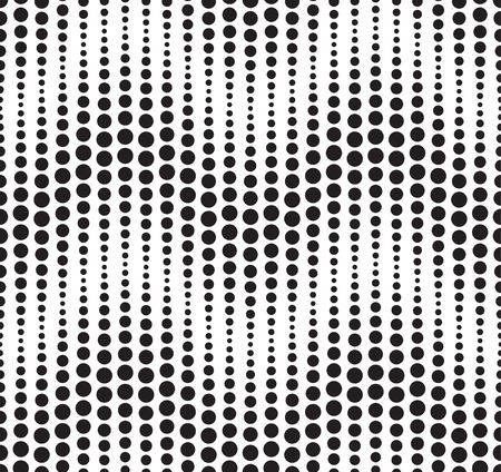 Seamless pattern composed of black geometric elements located on a white background  Useful as design element for texture, pattern and artistic compositions  Vector illustration  Vector
