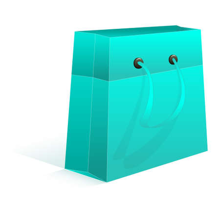 celadon: Gift package aquamarine empty on a white background  Vector illustration