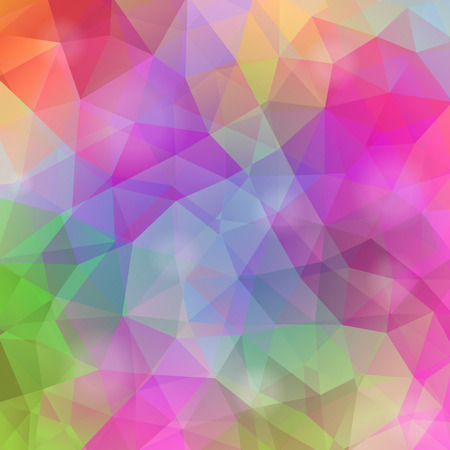 Abstract geometrical multicolored background consisting of triangular elements