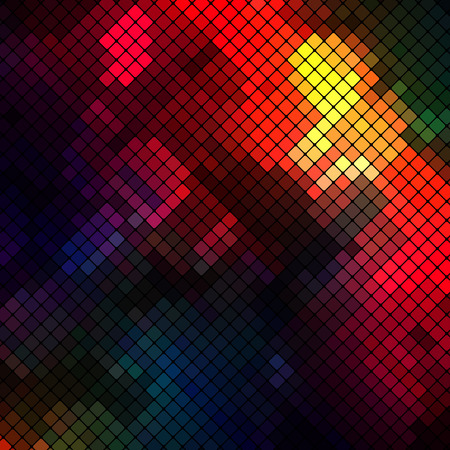 interconnection: Abstract Geometrical Multicolored Background consisting of square elements Illustration