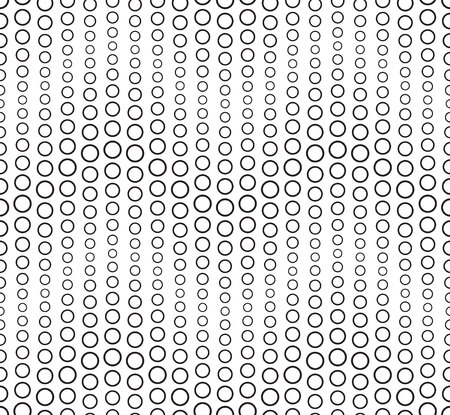 Seamless pattern on a white background. Has the shape of a wave. Consists of through geometric elements. Illustration
