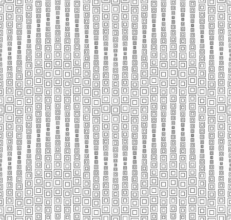 Naadloze patroon op een witte achtergrond. Heeft de vorm van een golf. Bestaat uit door middel van geometrische elementen. Stock Illustratie