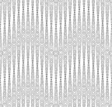 rectangle patterns: Seamless pattern on a white background. Has the shape of a wave. Consists of through geometric elements. Illustration