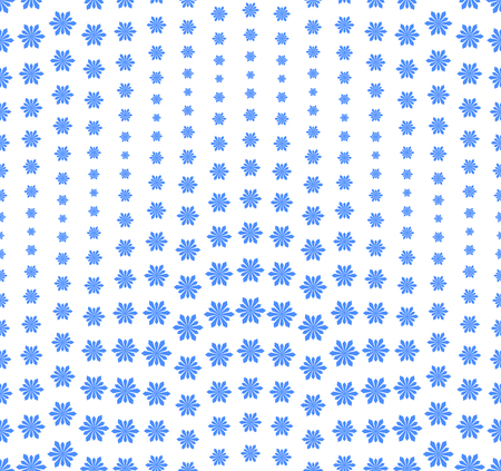 Seamless pattern on a white background. Has the shape of a wave. Consists of abstract elements having the shape of snowflakes. Vector