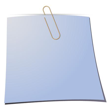 paper note: Clip de papel y una nota de papel. Ilustraci�n del vector. Vectores