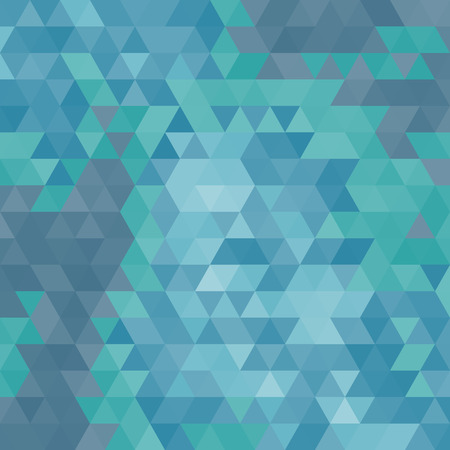 celadon: Abstract geometrical multicolored background consisting of triangular elements. Vector illustration. Illustration