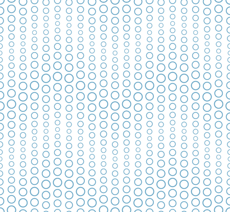 Seamless pattern on a white background. It has the shape of a wave. Consists of through geometric elements in blue. Useful as design element for texture, pattern and artistic compositions.