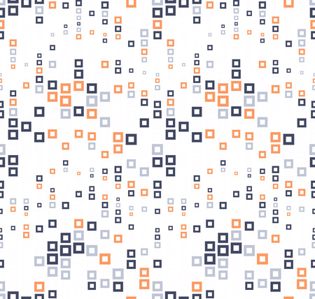 perforating: Seamless pattern on white background. It has the shape of a wave. Consists of through geometric elements in color. Useful as design element for texture, pattern and artistic compositions.
