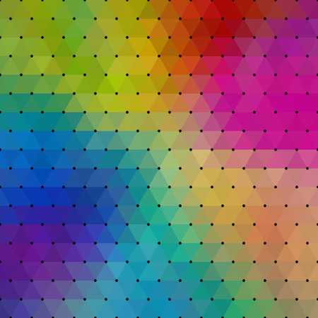 multicolored: Abstract geometrical multicolored background consisting of triangular elements. For your design. Vector illustration.